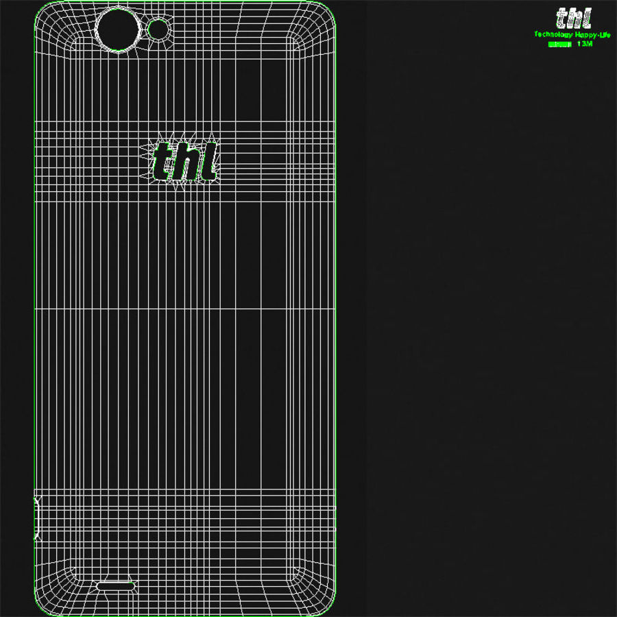 THL 5000 Smart Phone royalty-free 3d model - Preview no. 26