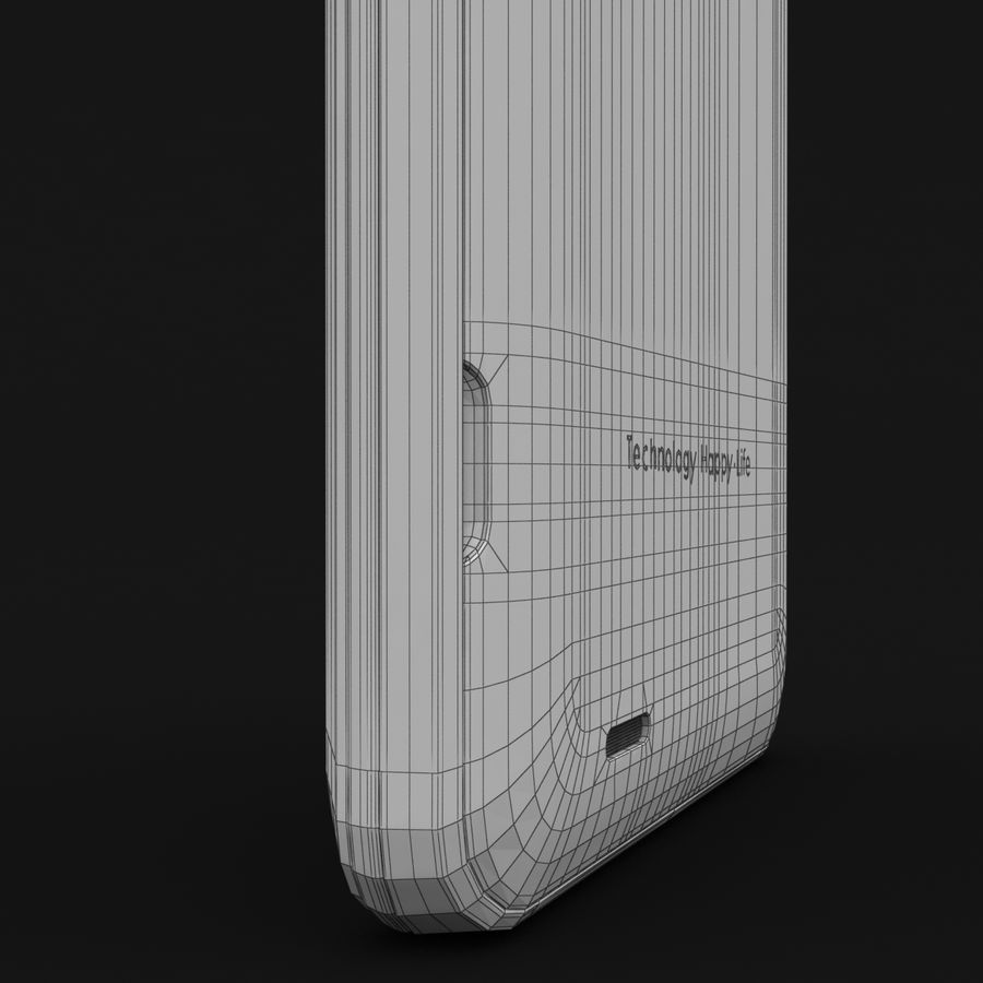 THL 5000 Smart Phone royalty-free 3d model - Preview no. 37