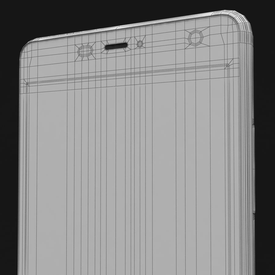 THL 5000 Smart Phone royalty-free 3d model - Preview no. 41