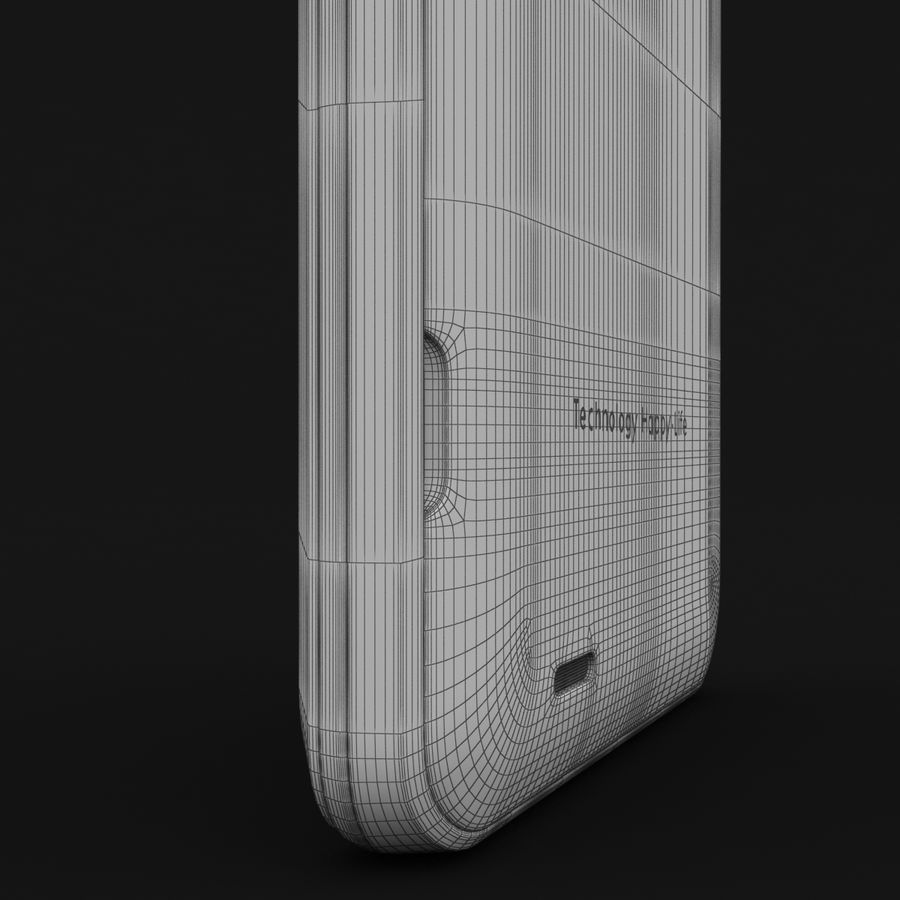 THL 5000 Smart Phone royalty-free 3d model - Preview no. 36