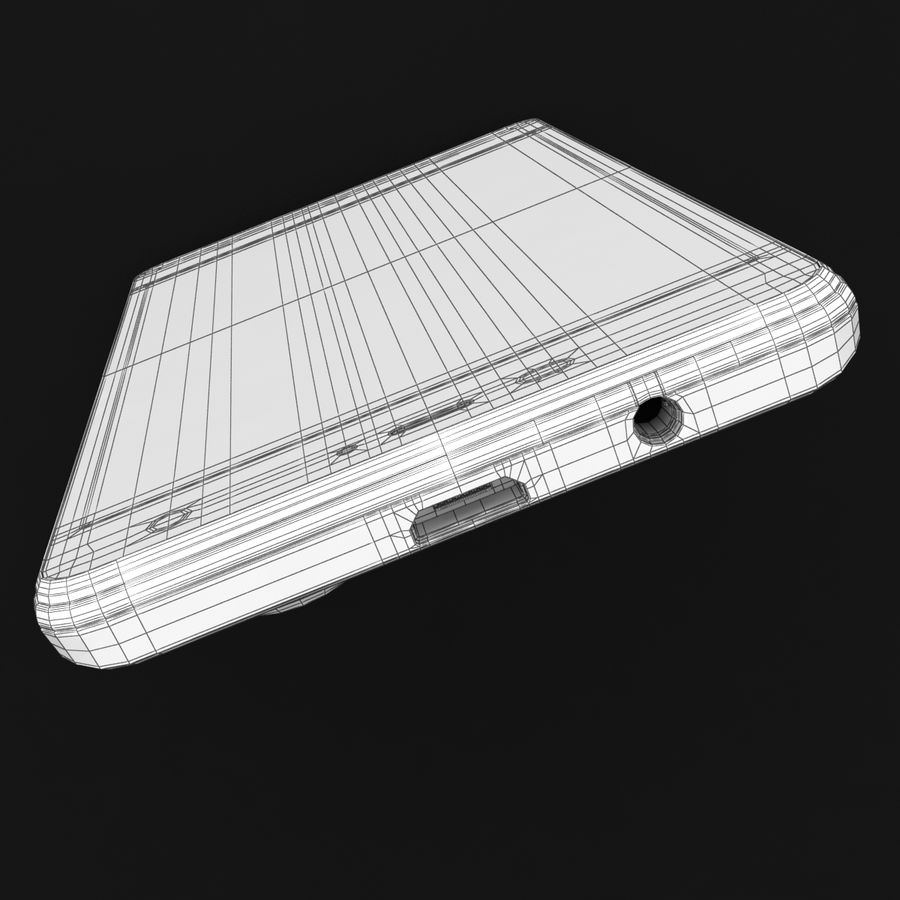 THL 5000 Smart Phone royalty-free 3d model - Preview no. 39