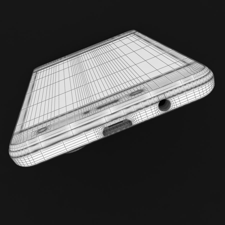 THL 5000 Smart Phone royalty-free 3d model - Preview no. 38