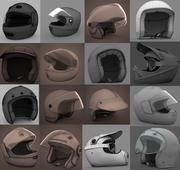 16 kasków motocyklowych 3d model