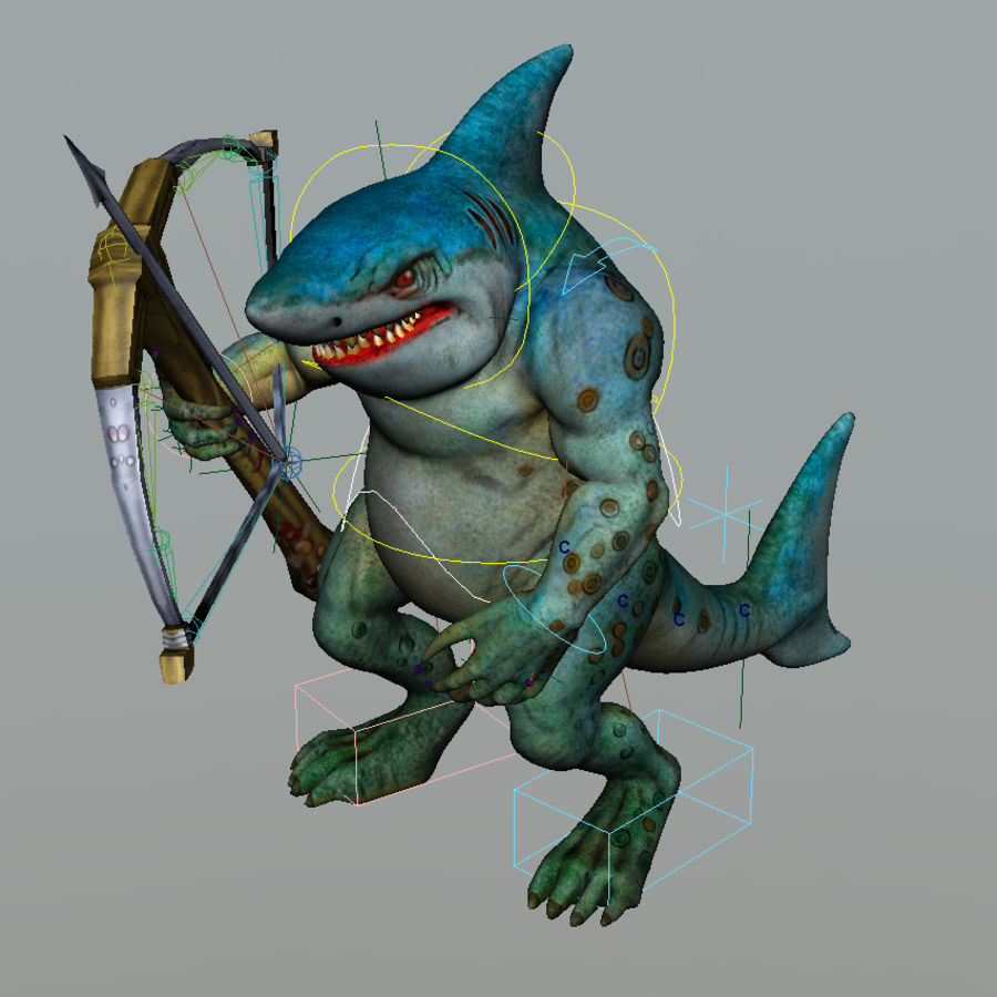 shark royalty-free 3d model - Preview no. 10