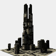 Sci-fi skyscraper 3003 3d model