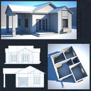 Dom wewnątrz / na zewnątrz 3d model