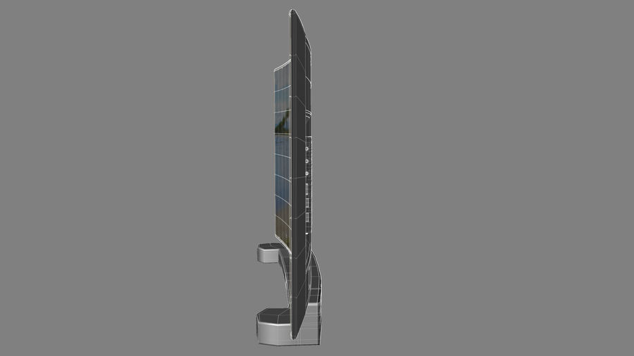 Generic Smart TV Curved royalty-free 3d model - Preview no. 7