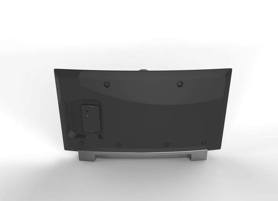 Generic Smart TV Curved royalty-free 3d model - Preview no. 4