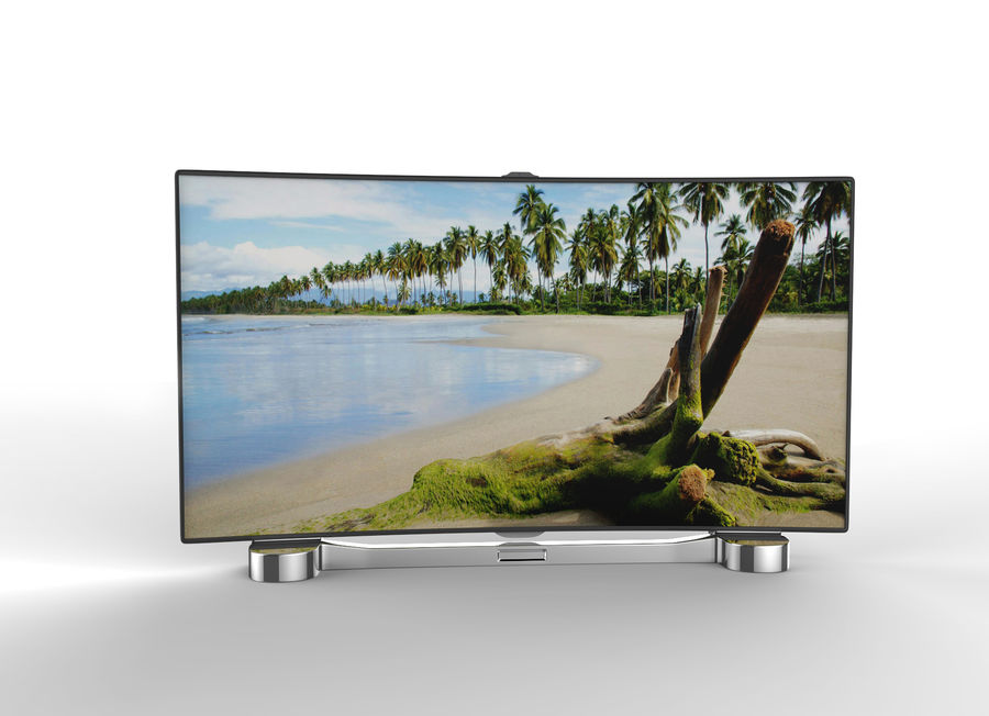 Generic Smart TV Curved royalty-free 3d model - Preview no. 1