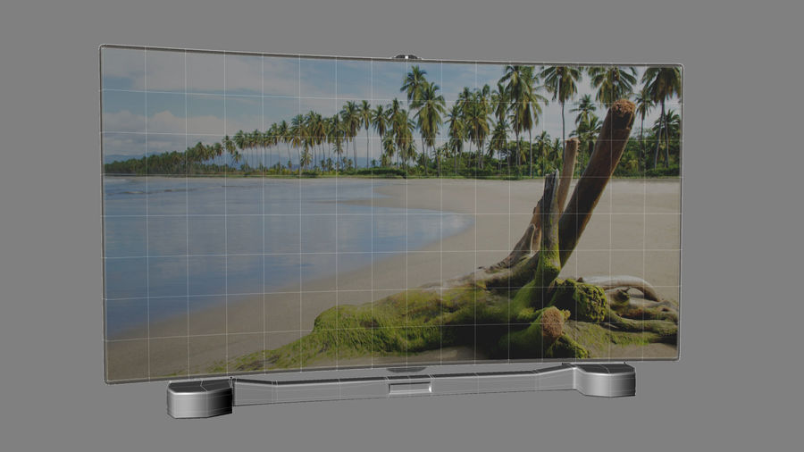 Generic Smart TV Curved royalty-free 3d model - Preview no. 5