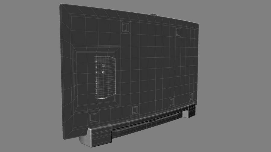 Generic Smart TV Curved royalty-free 3d model - Preview no. 6
