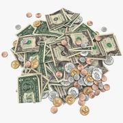 お金の山 3d model