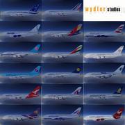 Airbus A380 17 Canlılar 3d model