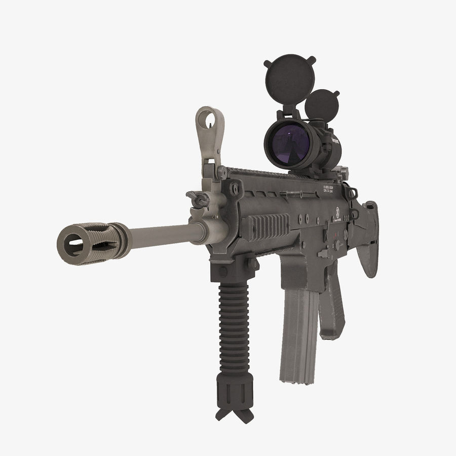 Fucile d'assalto da combattimento FN SCAR L royalty-free 3d model - Preview no. 11