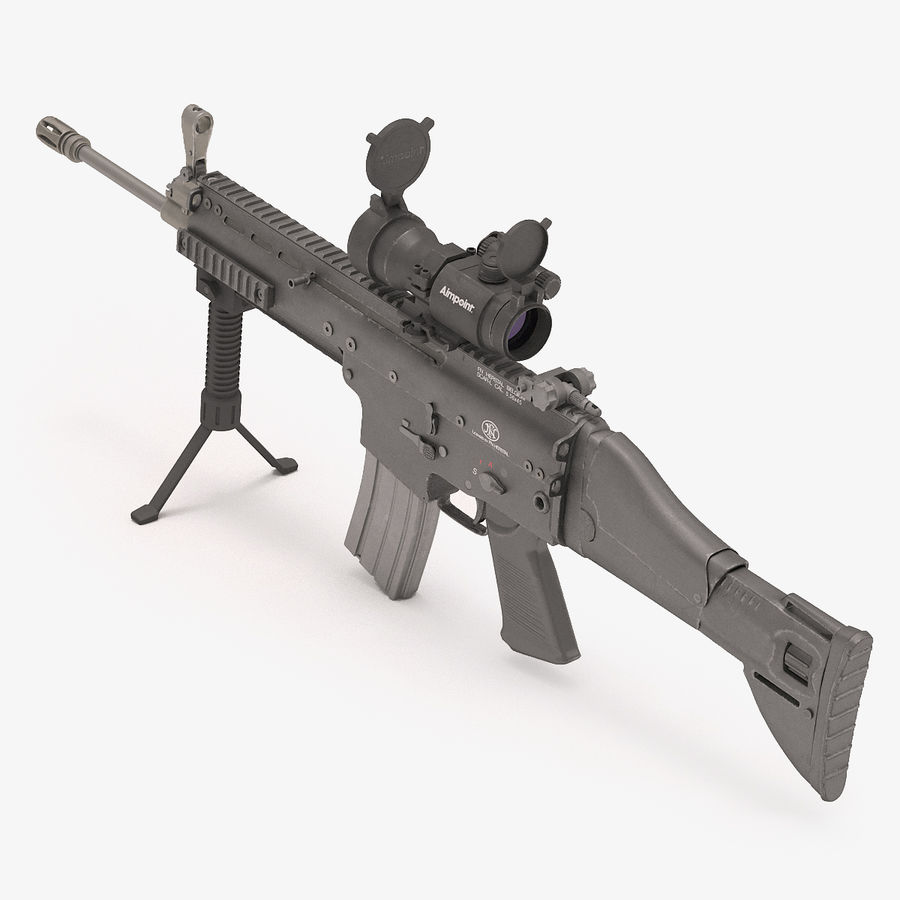 Fucile d'assalto da combattimento FN SCAR L royalty-free 3d model - Preview no. 4