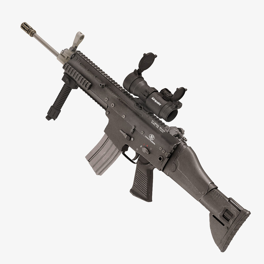 Fucile d'assalto da combattimento FN SCAR L royalty-free 3d model - Preview no. 1