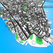 Manhattan Island 3d model