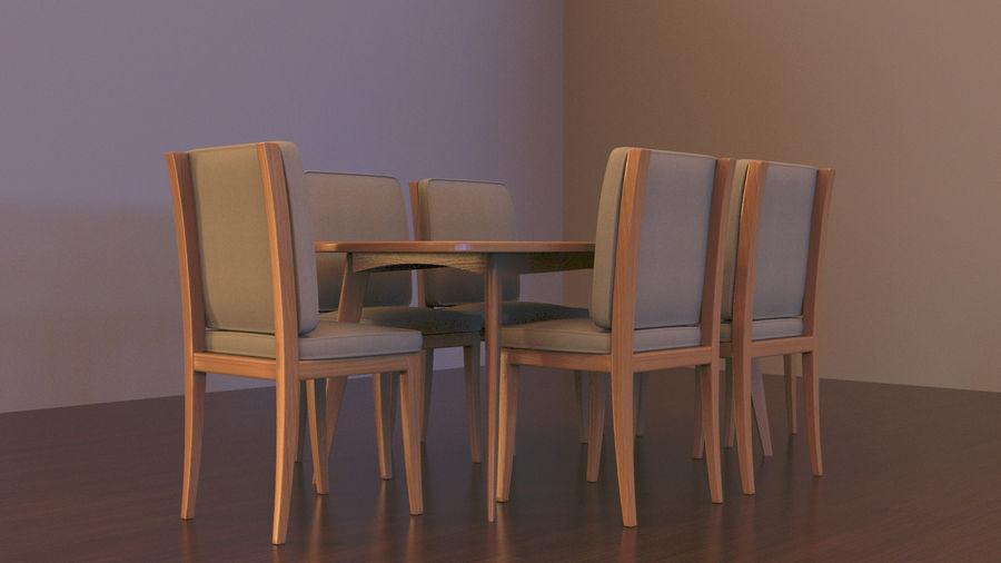 Stół i krzesła royalty-free 3d model - Preview no. 2