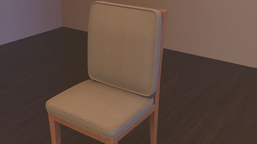 Stół i krzesła royalty-free 3d model - Preview no. 5