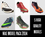 Pack de modèles de chaussures Nike 2014 3d model