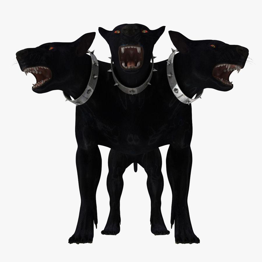 Cerbero de perro de tres cabezas royalty-free modelo 3d - Preview no. 16