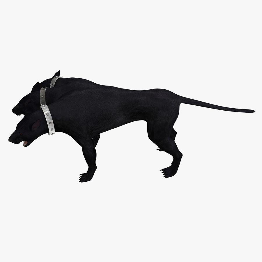 Cerbero de perro de tres cabezas royalty-free modelo 3d - Preview no. 4