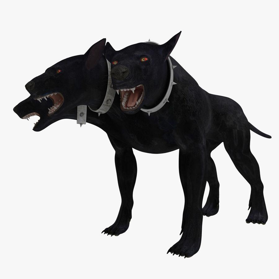 Cerbero de perro de tres cabezas royalty-free modelo 3d - Preview no. 1