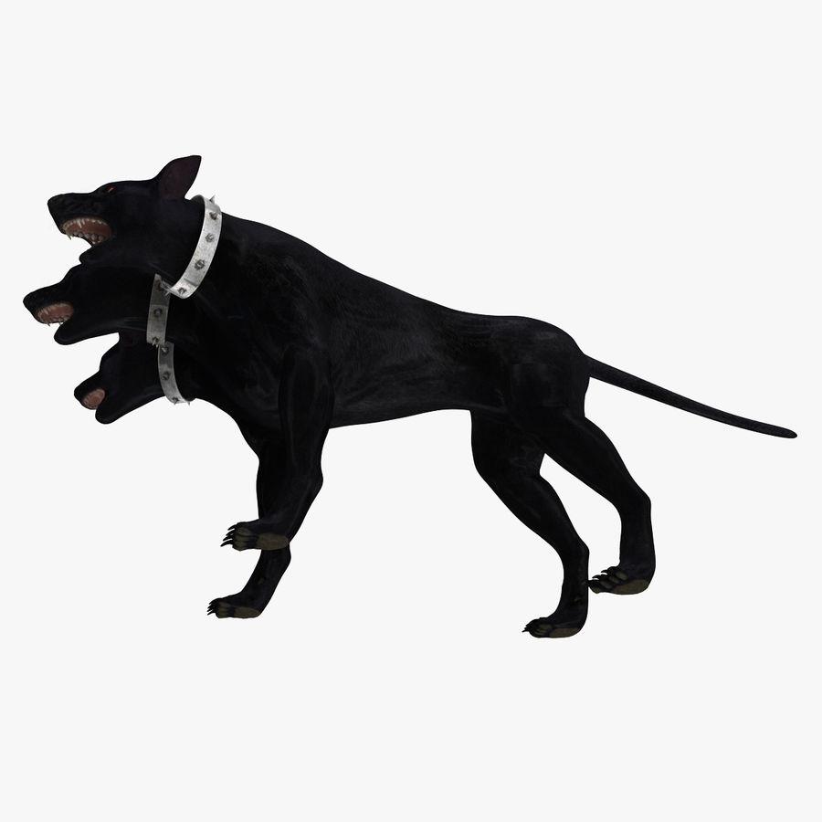 Cerbero de perro de tres cabezas royalty-free modelo 3d - Preview no. 12