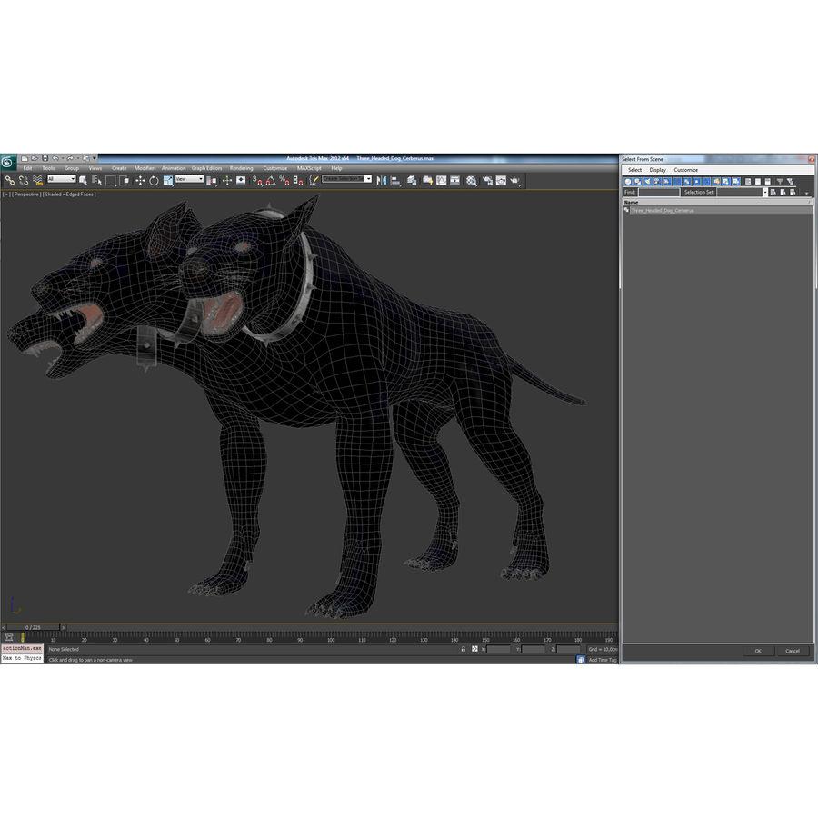 Cerbero de perro de tres cabezas royalty-free modelo 3d - Preview no. 29
