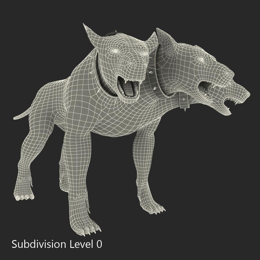 Cerbero de perro de tres cabezas royalty-free modelo 3d - Preview no. 23