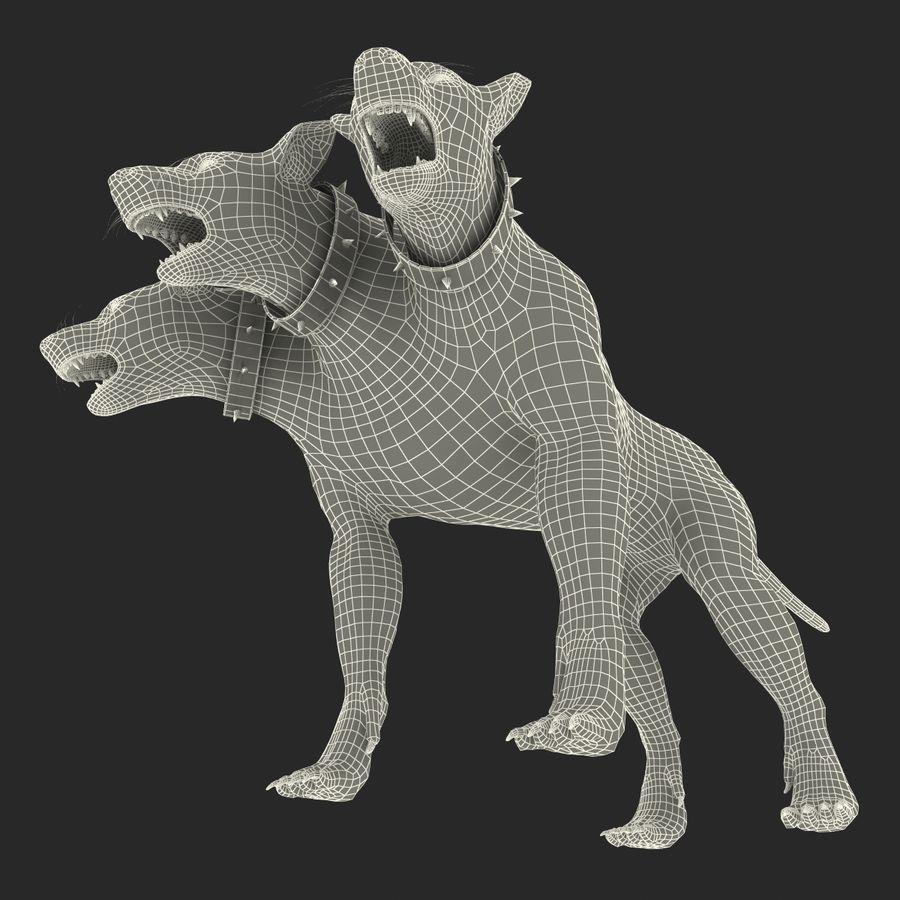 Cerbero de perro de tres cabezas royalty-free modelo 3d - Preview no. 22