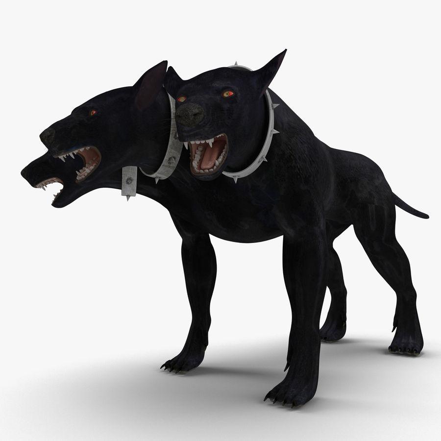 Cerbero de perro de tres cabezas royalty-free modelo 3d - Preview no. 2