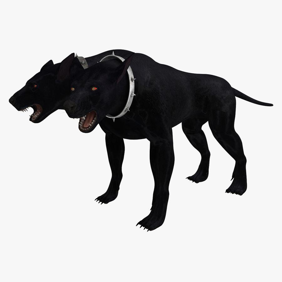 Cerbero de perro de tres cabezas royalty-free modelo 3d - Preview no. 11