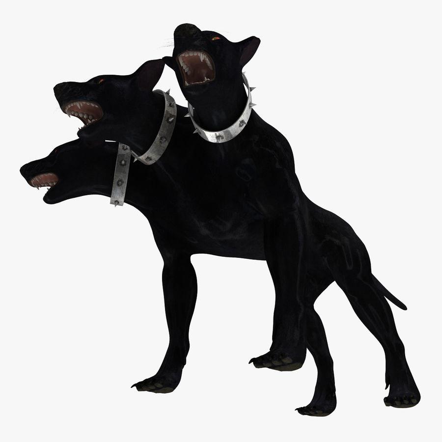 Cerbero de perro de tres cabezas royalty-free modelo 3d - Preview no. 14