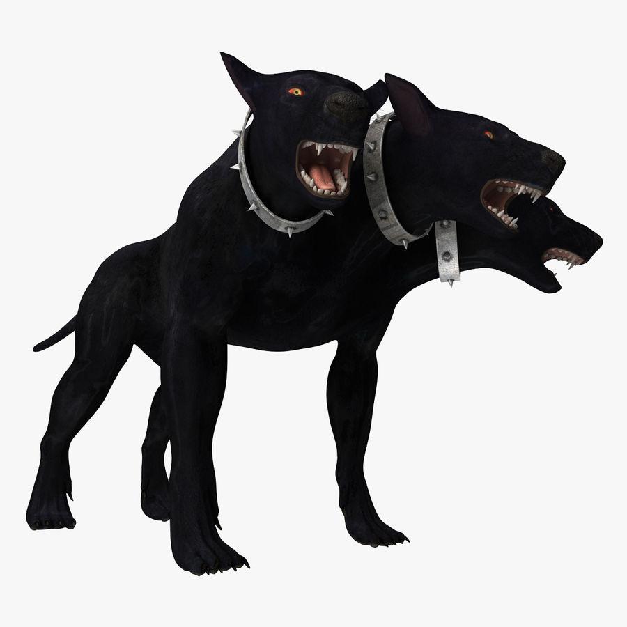 Cerbero de perro de tres cabezas royalty-free modelo 3d - Preview no. 10