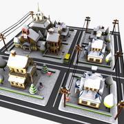 Мультфильм улица зима 3d model