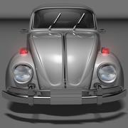 besouro pequeno carro antigo 3d model