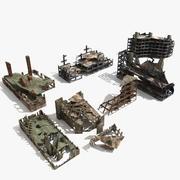 Escombros de edificios en ruinas modelo 3d