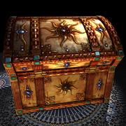 Treasure Chest 05 Gemstones On Pure Gold 3d model