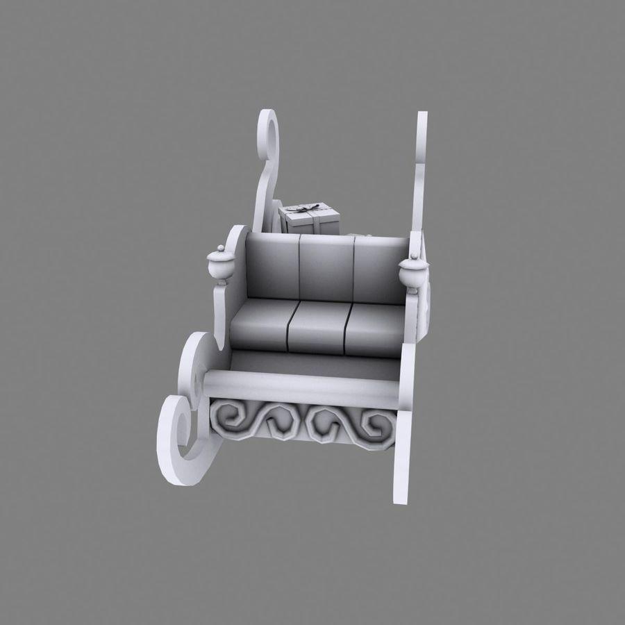 クリスマスそり royalty-free 3d model - Preview no. 16