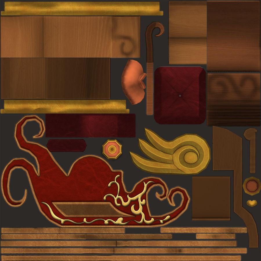 クリスマスそり royalty-free 3d model - Preview no. 20