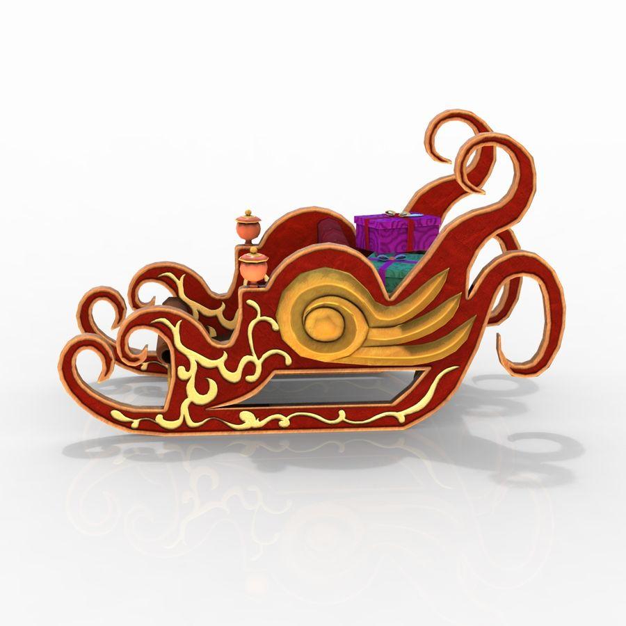 クリスマスそり royalty-free 3d model - Preview no. 8