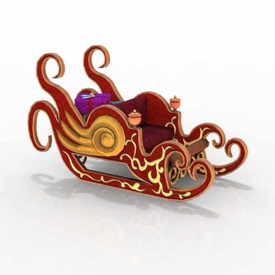 クリスマスそり royalty-free 3d model - Preview no. 12