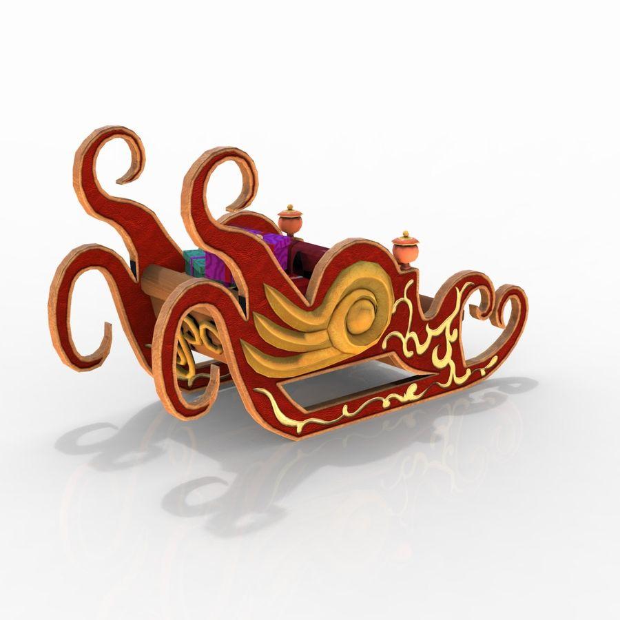 クリスマスそり royalty-free 3d model - Preview no. 3