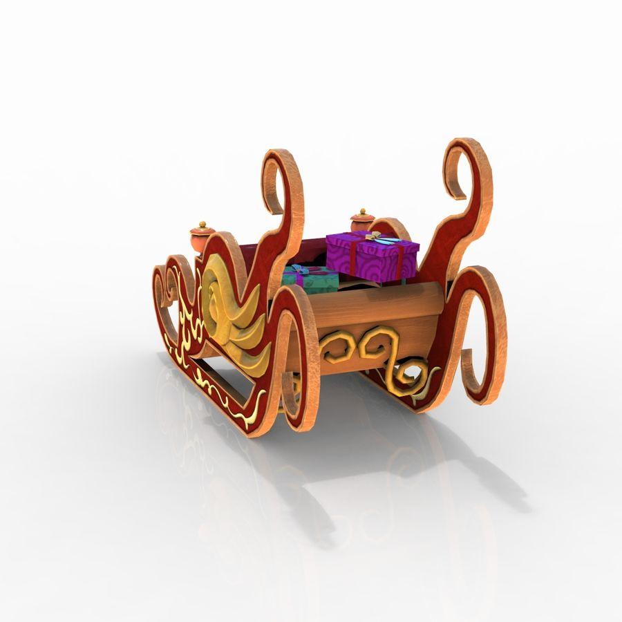 クリスマスそり royalty-free 3d model - Preview no. 5