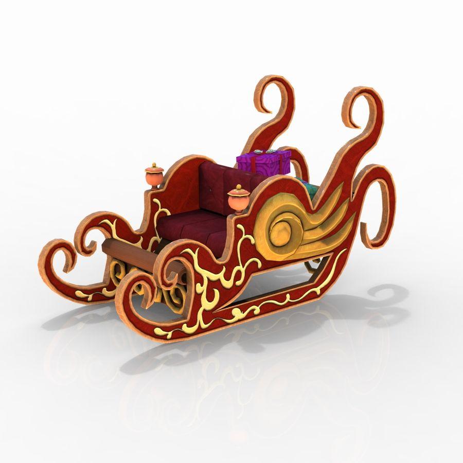 クリスマスそり royalty-free 3d model - Preview no. 9