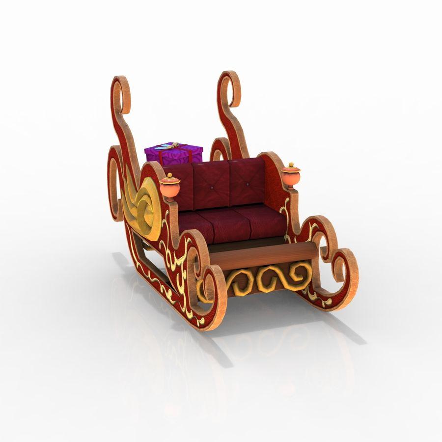 クリスマスそり royalty-free 3d model - Preview no. 11
