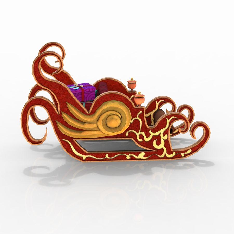 クリスマスそり royalty-free 3d model - Preview no. 7