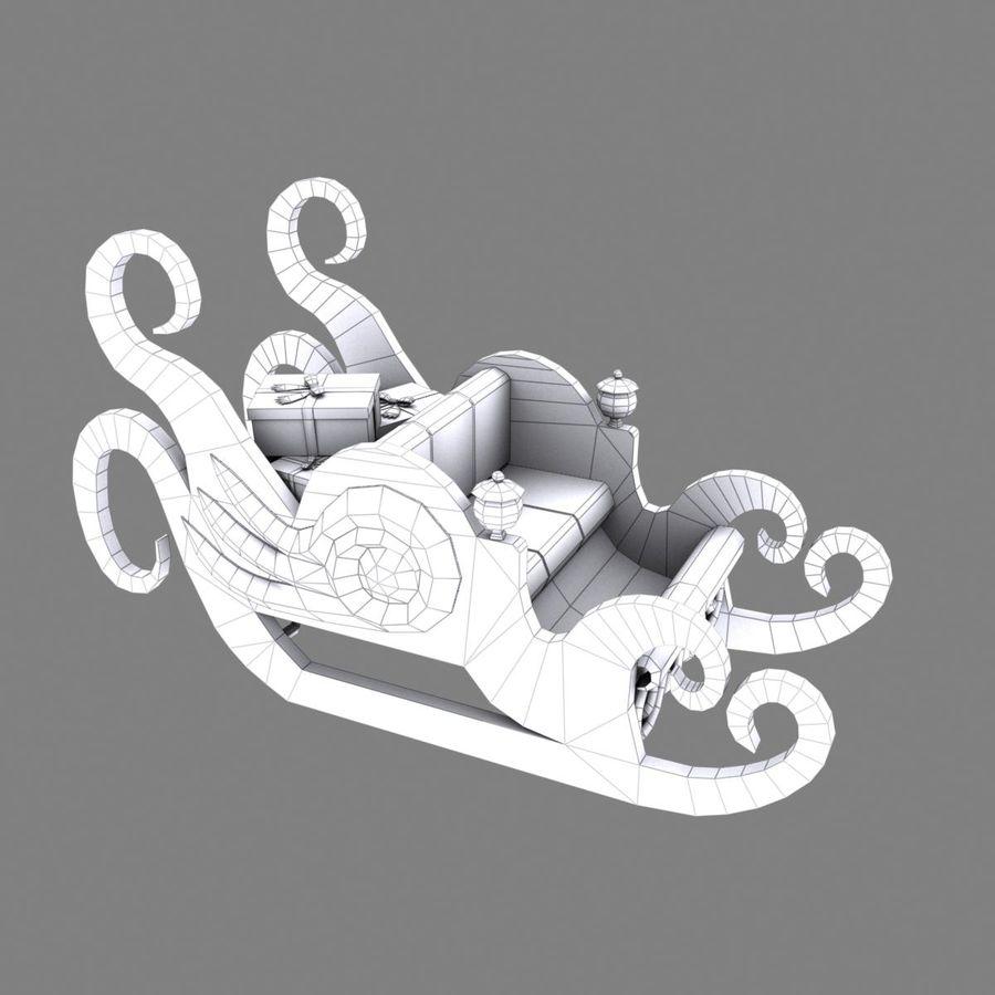 クリスマスそり royalty-free 3d model - Preview no. 17