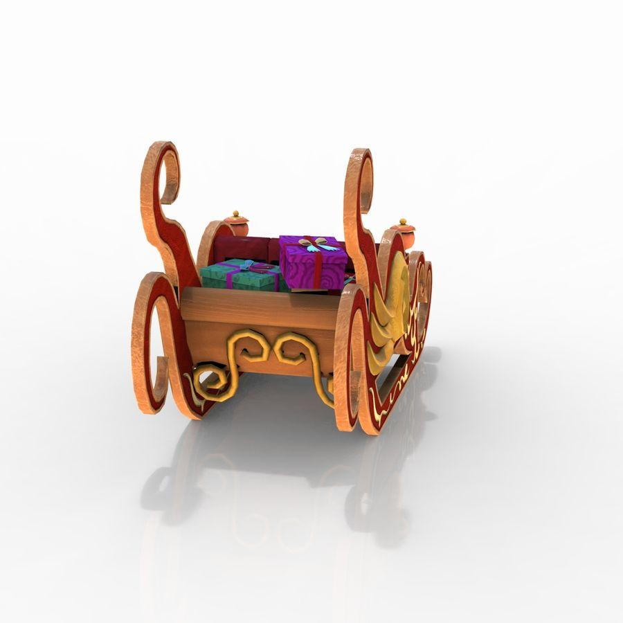 クリスマスそり royalty-free 3d model - Preview no. 4